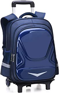 QIUDAN Student Trolley Rucksack Nylon wasserdichte Laptop Gep/äck Tasche f/ür 15,6 Zoll Laptop Travel College Trolley Rucksack Daypack USB Roll Trolley Rucksack