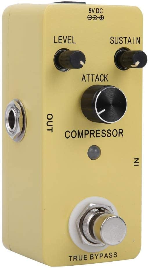 Indicador del Pedal del Efecto Real De Derivación del Compresor LED Efecto De Aleación De Zinc Alojamiento Adecuado para Diferentes Tipos De Música Y Diferentes Tipos De Guitarras Eléctricas