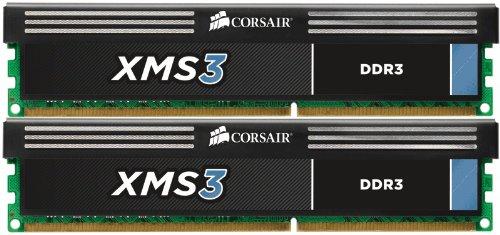 Corsair CMX4GX3M2B1600C9 XMS3 4GB (2x2GB) DDR3 1600 Mhz CL9 Performance Desktop Memory