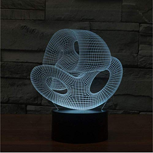 Simple Creative LED Night Desk Lamp Acrylic Glass Shop Coffee 3D LED Lamp Electronic Gift Table Lamp for Bedroom