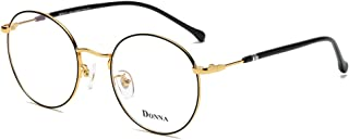 fc5e72a5111 DONNA Stylish Clear Lens Women Glasses Samll Circle Round Frame Blue Light  Blocking for Computer DN47