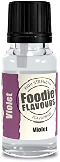 Foodie Flavours Natural Flavouring - 15ml Glass Bottle - Violet by Culpitt