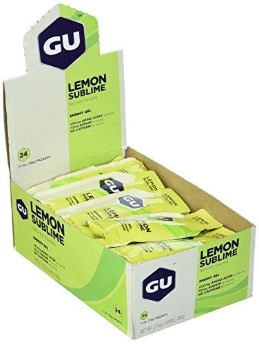 GU Energy Gel, Lemon Sublime (Zitrone), Box mit 24 x 32 g