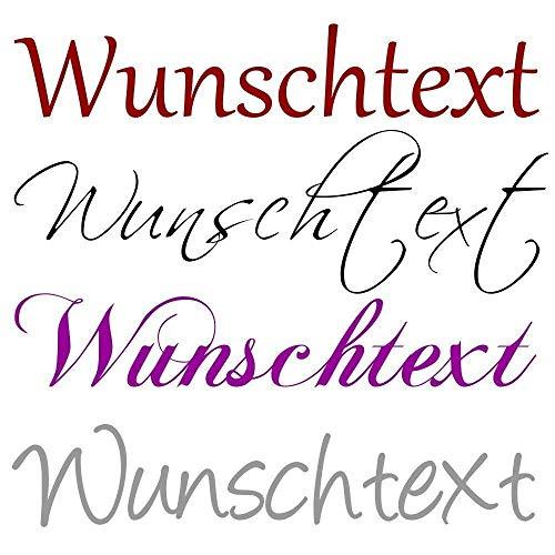 Wandtattoo selbst gestalten HM~Wunschtext Text nach Wunsch Farbauswahl Wanddekoration NEU+++Jetzt auch Pastellfarben+++