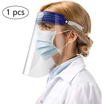 Random Color PRETYZOOM 6Pcs Safety Face Shield Caps Clear Eye Face Protective Visor Full Face Shield Oil Resistant Windproof Face Cover for Home Outdoor