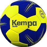 Kempa Gecko-Ballons de Handball Taille 1 Adulte Unisexe, Jaune Citron/Bleu Profond, 1
