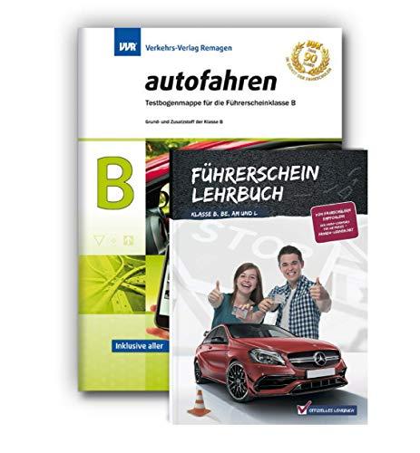 Führerschein Fragebögen , Lehrbuch ,PRÜFUNGS-SET KLASSE B, top aktuell 2020 , super als Geschenk Set ! Taschenbuch – 1. Januar 2020