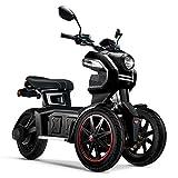 Doohan iTank eGo2 Elektroroller 1560W - 45km/h E-Scooter Elektro-Trike 2 Personen E-Roller 3-Rad Elektromobil EU-Zulassung Schwarz
