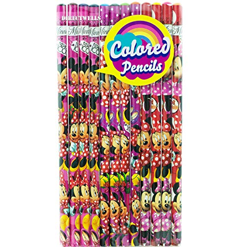 Disney Minnie Mouse 12 Colored Pencils Pack