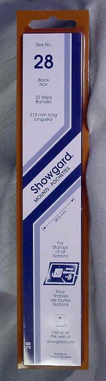 Showgard Strip Style Black Stamp Mounts Size 28 lfycrrdc681