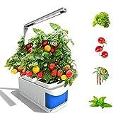 FDYD LED de Interior del jardín, jardín de Hierbas, Huerta, Altura Ajustable, Temporizador automático, Ideal para la Planta Crece Principiante o entusiastas, Varias Plantas