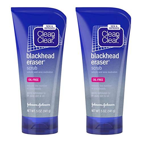 Clean & Clear Gomme Blackhead Exfoliant avec 2% Médicaments de l'acide salicylique acné, quotidien sans huile Gommage du visage pour les soins de la p