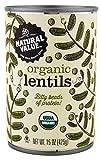 Natural Value Organic Lentils, 15 Oz (Pack Of 12)
