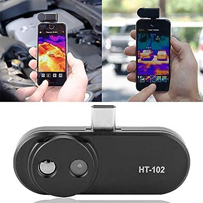 Rosvola HT-102 Infrared Thermal Imaging Camera, Higher IR Resolution Android Thermal Camera, IR Thermal Imager Camera Phones Black