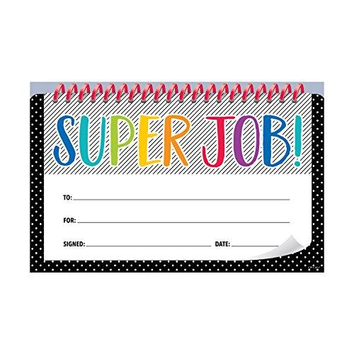 Creative Teaching Bold & Bright Super Job! Incentive Award (30 Per Pack)