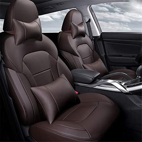 JWJDarin Speciaal autostoelovertrek, ademende lederen bescherming kussenslopen, Airbag Reserved poort, met nekkussen, lendensteun Fit Four Seasons
