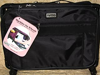 Medium Black Mascot Tutto Machine on Wheels Sewing Carrier Case