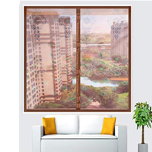 Zanzariera magnetica per finestra anti-zanzare, resistente agli insetti, in rete resistente per tende da finestra con adesivi magici staccabili, 150 x 200 cm