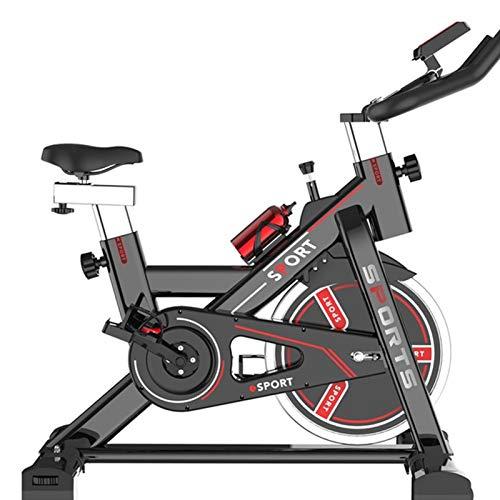 SUUUK Bicicleta Estática Profesional para Interiores, Bicicleta De Ciclo con Transmisión por Correa Silenciosa con Manillar Y Asiento Ajustables, Volante Cromado, Forma Eficaz