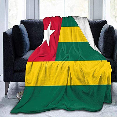 Groefod Togo Flag Manta de Franela Cozy Thermal Flannel Blanket Couch Throw Blanket for Bed Couch Car