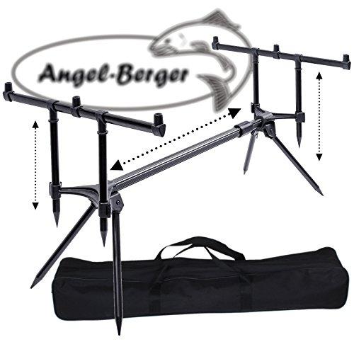 Angel-Berger Session Rod Pod mit Tasche