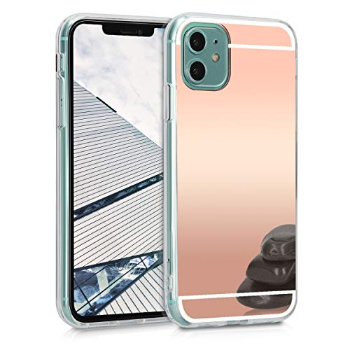 kwmobile Cover Compatibile con Apple iPhone 11 - Custodia in Silicone TPU - Back Case Protettiva Cellulare Oro Rosa Metallizzato