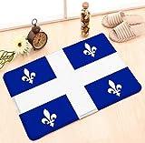 NA Fußmatten Küche Boden Bad Eingang Teppich Matte Innen Badezimmer Dekor Fußmatten rutschfeste Flagge Quebec Textur Nahaufnahme Flagge Quebec