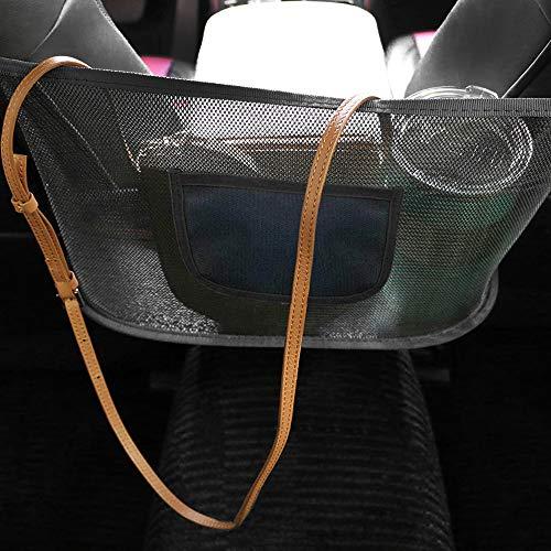 Car Net Documents Pocket Handbag Holder, Driver Storage Netting Pouch, Car Hooks for Purses and Mesh Large Capacity Bags Front Seat, Handbag Holder for Car, Barrier of Backseat Pet Kids (Upgrade)