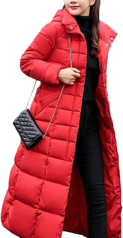 LKCENCA Womens Winter Warm Packable Slim Longline Parka Padded Coat Down Jacket