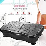 ANCHEER Vibrationsplatte Fitness Home Vibrationsgerät Profi Vibration Plate inkl. Trainingsbänder, Fernbedienung, LCD Display, 180 Verschiedene Geschwindigkeitsstufen (Schwarz)