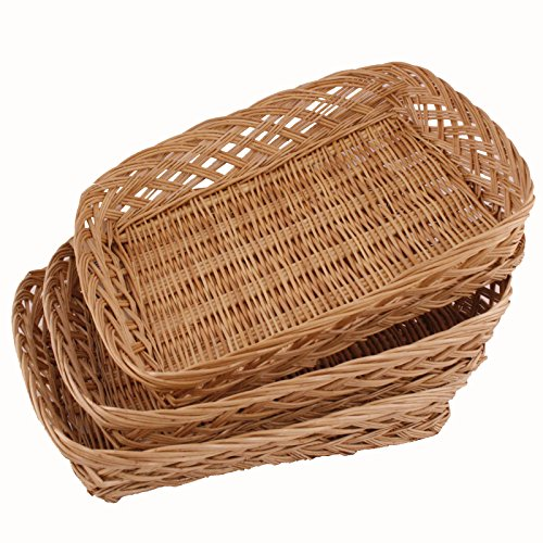 FloristryWarehouse Empty wicker hamper basket 36 x 30cm Pack of 3 baskets