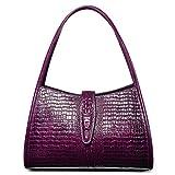 PIJUSHI Designer Shoulder Purses Hobo Handbags for Women Leather Tote Shoulder Bags (68022 violet)