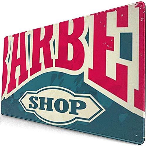 Mauspads Friseursalon-Plakat Friseursalon-Hipster-Haarschnitt und Rasur-Weinlese-Zeichen-Schablone C
