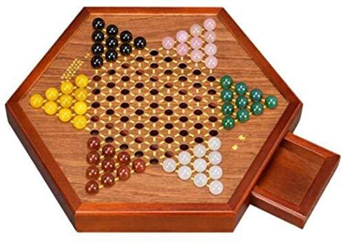 Zyyqt Halma, Dame, Dame, Glasperlen, Jump Dame, Schach, Hexagonal Checkers (Color : B, Size : 31.5 * 21.5 * 4cm)