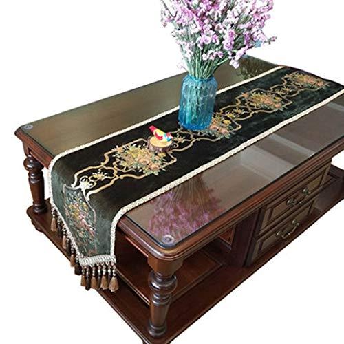 American Tafelloper Pluche Jacquard met Tassel Decoratieve Eettafel Doek Mat for Bruiloft Receptie Supplies Tafelkleed-4.13 (Color : B, Size : 35 * 260cm)