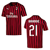 PUMA AC Mailand Trikot Home Herren 2020 - Ibrahimovic 21, Größe:XL