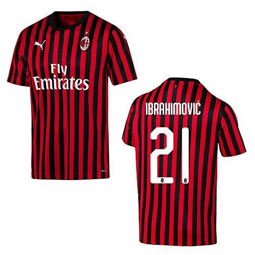 PUMA AC Mailand Trikot Home Herren 2020 - Ibrahimovic 21, Größe:L