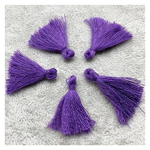 Fait Adolph 60 unids/Lote 3 cm algodón borlas pequeñas borlas de algodón Borde para Cortinas de Costura Accesorios DIY DIY Decoración de la Boda (Color : CC)