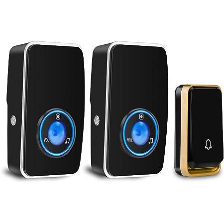 Nouveau sans fil 24 Carillon Kit Batterie Etanche Sonnette Portable Ring