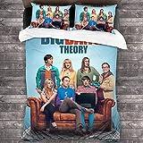 AZCCDM The Big Bang Theory Sheldon Lee Cooper? Juego de ropa de cama para adolescentes y niños Anime, microfibra, suave y cómoda (A1, 135 x 200 cm + 80 x 80 cm x 2)