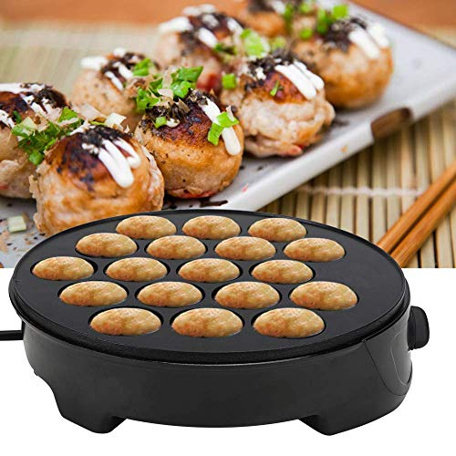 Máquina de Takoyaki, Haofy 18 Rejillas Takoyaki Pan Eléctrica, Mini Sartén Antiadherente para Hornear para Hacer Takoyaki y Bola de Pulpo, 220-240 V 750W
