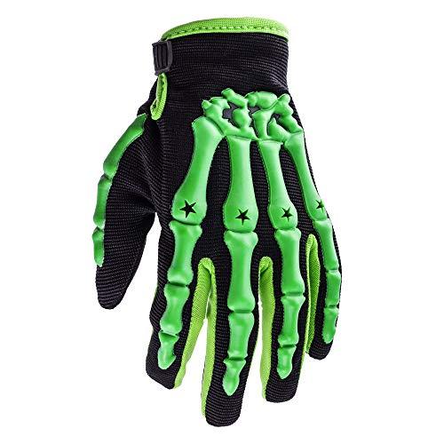 Typhoon Youth Kids Motocross Motorcycle Offroad MX ATV Dirt Bike Gloves - Green - Medium