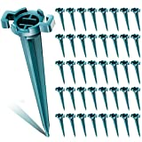BBTO 4.5 Inch Christmas Light Stakes Yard Lawn Stakes C7 C9 Light Stake Universal Outdoor Holiday Lighting Outlet for Christmas Decorations Outdoor Garden Patio Path (120 Pieces)