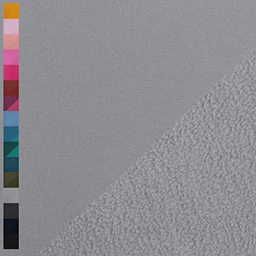 Nano Softshell von Swafing, wind- und wasserabweisend, uni grau (25cm x 140cm)
