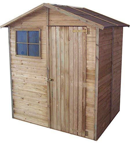 Casetta in legno a pannelli 180 x 135 x 220 cm Mod. Cormayeur