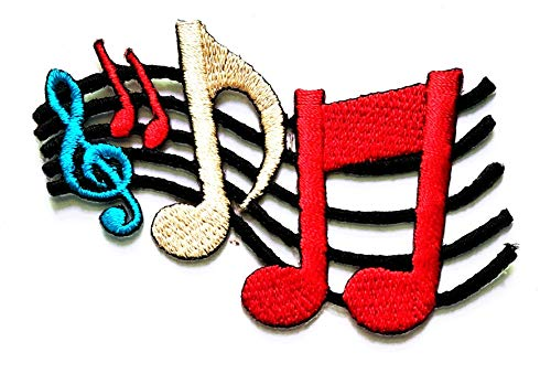 For Sale! Nipitshop Patches Colorful Musical Notation Music Note Symbol Patch for Cartoon Kids Patch...