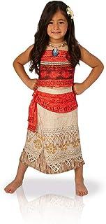 Rubies Vaiana Deluxe Costume, Disfraz infantil, Rojo/Beige, L (7-8 años, 128 cm) (630512-L)