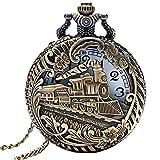 Abaodam Reloj de Bolsillo Vintage con Agujeros Retro Colgante Reloj de Bolsillo de Cuarzo Reloj Fob Collar Reloj de Cadena Reloj Decorativo Colgante para Mujeres Hombres Regalo