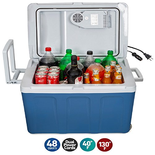 K-box Electric Cooler and Warmer with Wheels for...