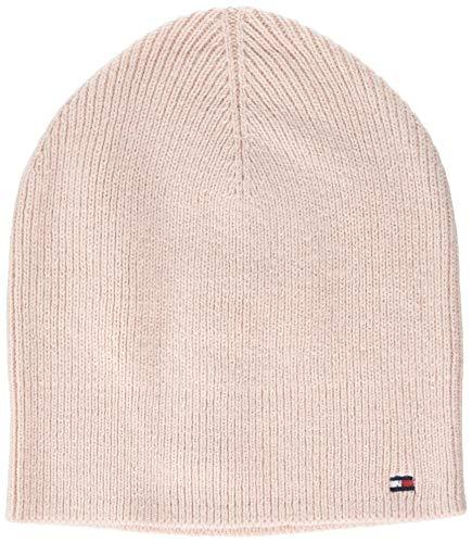 Tommy Hilfiger Damen Flag Knit Beanie Strickmütze, Rosa (Pink Tf6), One Size (Herstellergröße:OS)